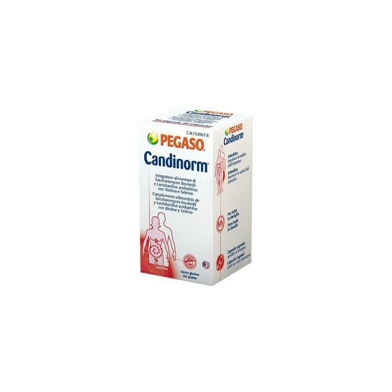 PEGASO - Candinorm 30 capsule - Integratore per l'equilibrio della flora batterica