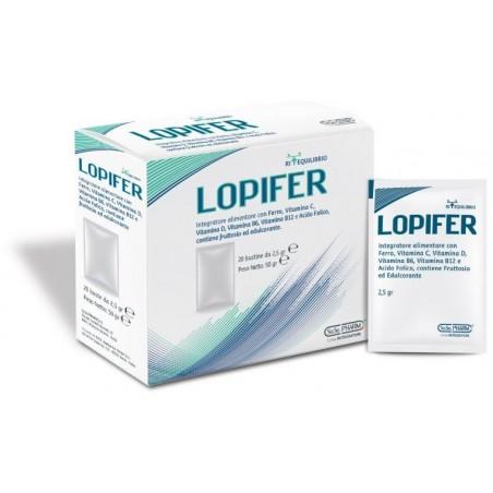 SO.SE.PHARM - Lopifer 20 Bustine - Integratore alimentare a base di ferro per dare energia e vitalità