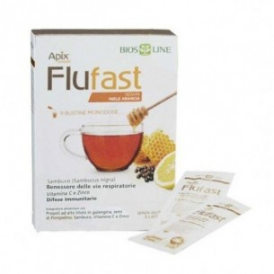 Apix Flu Fast Arancia 9 Bustine monodose - Integratore alimentare per le vie respiratorie