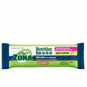 Enerzona Nutrition Bar 40-30-30 - barretta Sostituto Del Pasto Gusto Mirtillo e Cacao