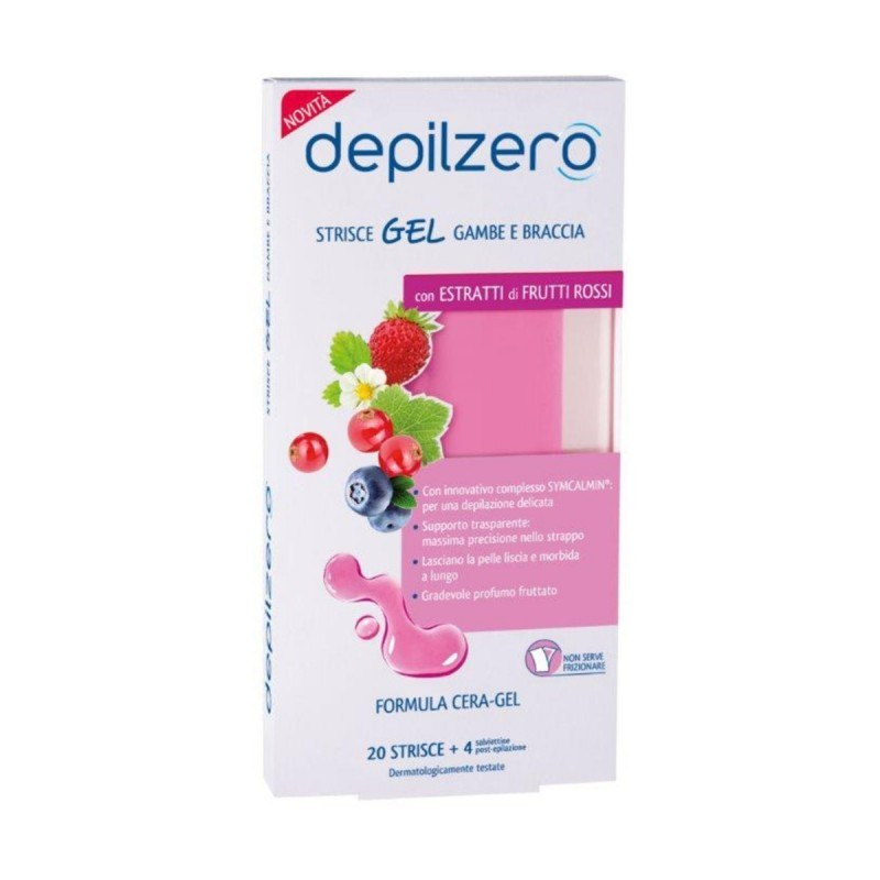 DEPILZERO - strisce gel gambe e braccia - 20 strisce depilatorie