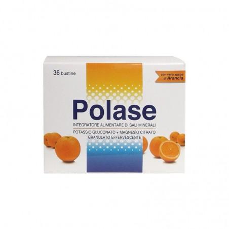 POLASE - Magnesio e Potassio 36 Bustine Gusto Arancio - Integratore per stanchezza ed affaticamento