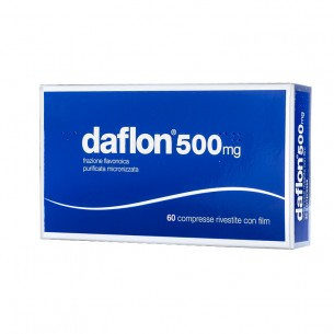 Daflon 500 mg - trattamento dell'insufficienza venosa 60 compresse rivestite