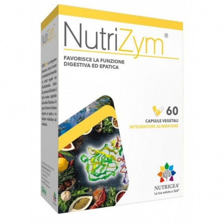 Nutrigea - Nutrizym 60 Capsule Vegetali - Integratore alimentare per la funzione digestiva ed epatica