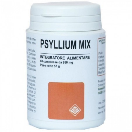 GHEOS - psyllium mix 60 compresse - integratore alimentare per il transito intestinale