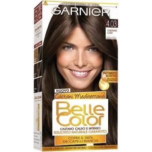 Tinta per capelli belle color castani mediterranei 4.03 castano luce (Confezione Danneggiata)