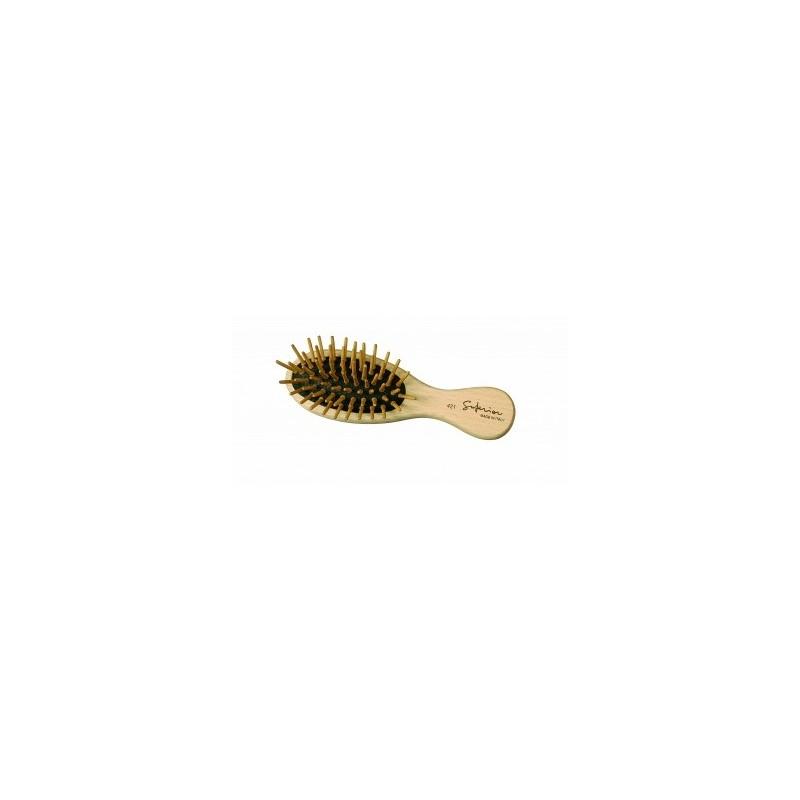 GUENZANI - superior spazzola pneumatica ovale da borsetta spilli in legno 421