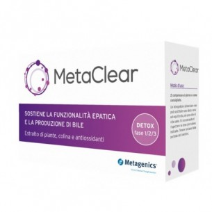 Metaclear 30 compresse - integratore per la funzionalità epatica