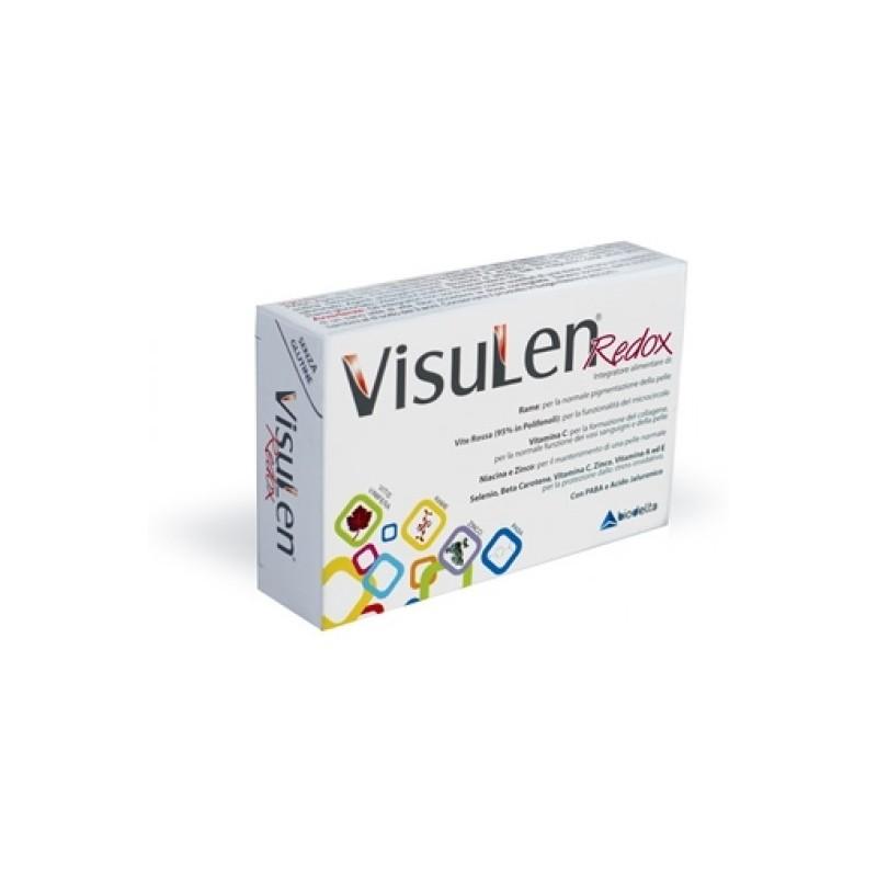 BIODELTA - Visulen Redox 30 Compresse - Integratore alimentare utile alla pelle