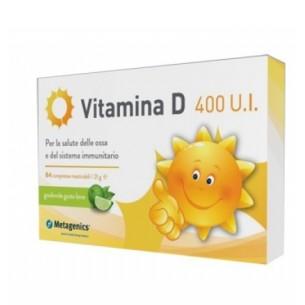 Vitamina D 400 UI - Integratore alimentare utile alle ossa 84 Compresse gusto lime