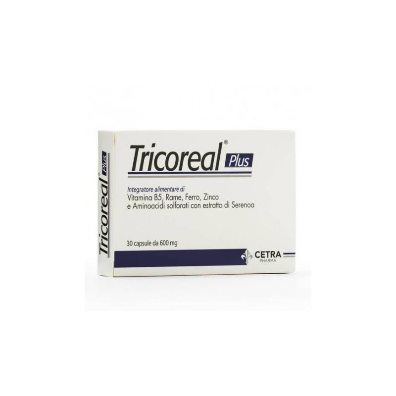 CETRA - Tricoreal Plus 30 Capsule -  Integratore alimentare per fragilità di capelli e unghie