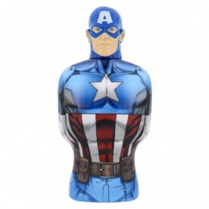 Captain America 350 ml - Bagnoschiuma e Shampoo 2 in 1 per bambini