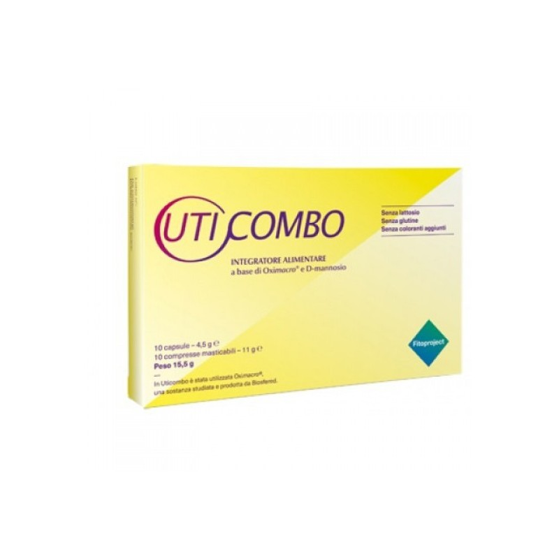 FITOPROJECT - uticombo 10 capsule + 10 compresse - integratore per le vie urinarie