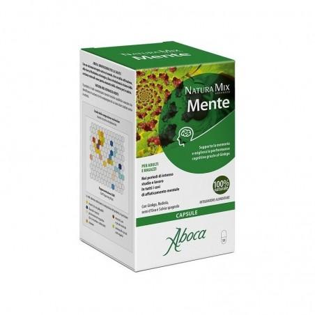 Aboca - Natura Mix Advanced Mente 50 opercoli - Integratore utile per le funzioni cognitive