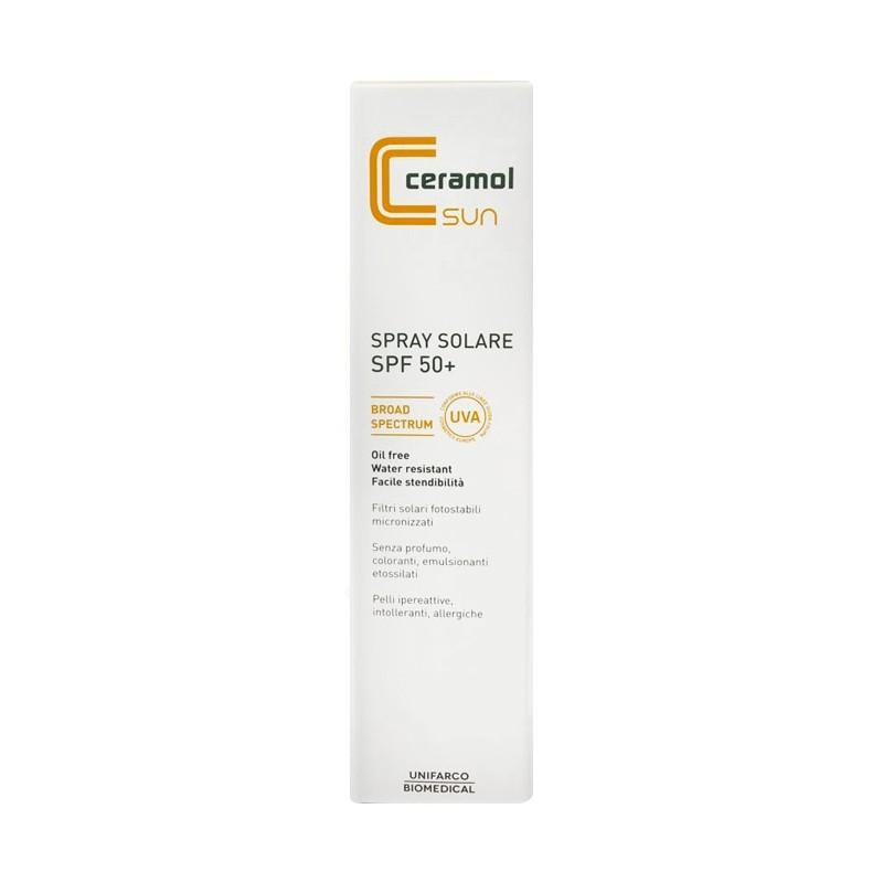 UNIFARCO - Ceramol Sun Spray Solare spf50+ Oil free 125 ml