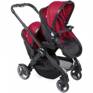 Fully Twin -  passeggino Gemellare red passion