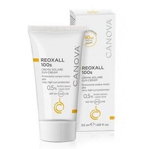 Reoxall 100s crema solare protezione molto alta per pelli delicate 50 ml