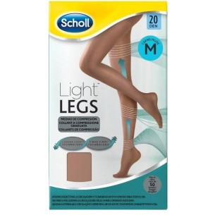 Light Legs - collant a compressione graduata 20den taglia M Nude