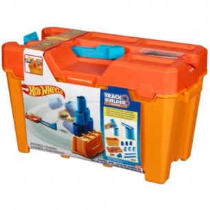 Hot Wheels - Track Builder System Barrel Box Pista con bersaglio