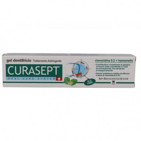 CURASEPT - Oral Care System - Gel Dentifricio trattamento astringente 75 ml
