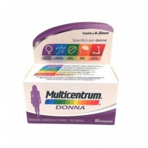 Multicentrum Donna 60 compresse - integratore di vitamine e minerali