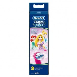Oral-B Stages Power - 3 testine di ricambio per spazzolino con personaggi assortiti