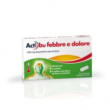 Johnson & Johnson - Actibu febbre e dolore 400 mg 10 compresse - antinfiammatorio antidolorifico