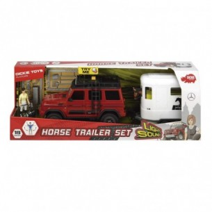 Playlife Horse Trailer Set - Fuoristrada con personaggio e cavallo