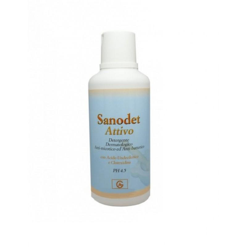 Abbate Gualtiero - Sanodet Attivo - Detergente Dermatologico anti-micotico ed anti-batterico 500 ml