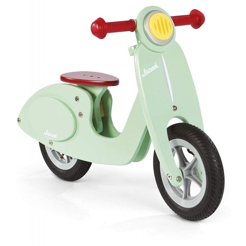 JANOD - Scooter in legno vespa senza pedali Color Menta