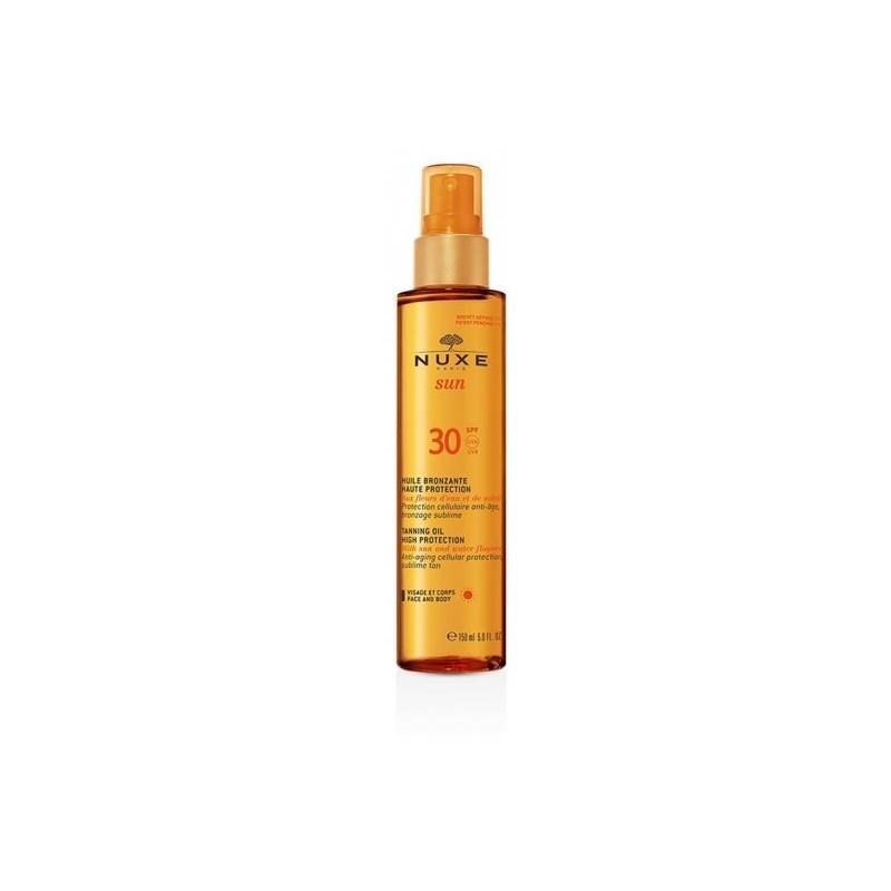 NUXE - sun huile bronzante - olio solare protettivo spf30 150 ml
