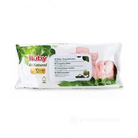 NUBY - all natural - 80 Salviette Citroganix per il Cambio del pannolino