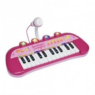 Mini Tastiera  24 Tasti con Microfono Rosa