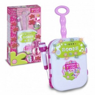Amplificatore con Trolley con Microfono rosa