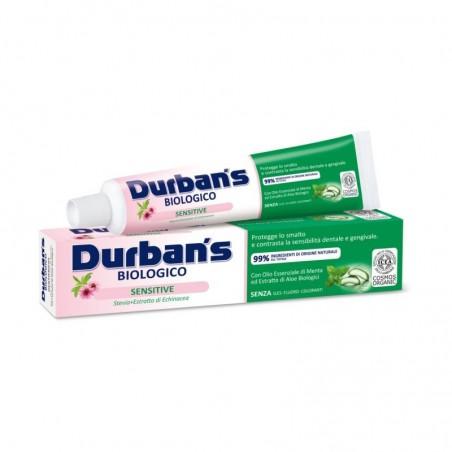 DURBAN S - Sensitive - Dentifricio biologico con Stevia ed estratto di echinacea 75 ml
