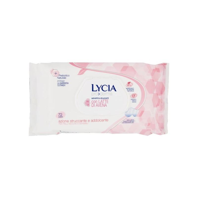 LYCIA - Pro Derma - 72 salviettine struccanti con Latte di Avena