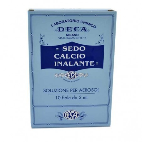DECA LABORATORIO CHIMICO - Sedo Calcio inalante 10 fiale da 20ml - soluzione per aerosol