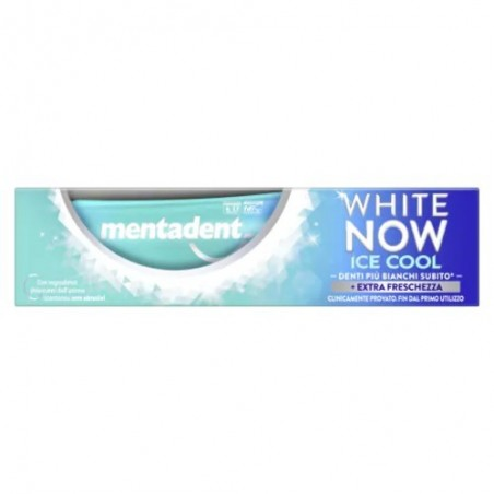 Mentadent - White now ice cool - dentifricio sbiancante 75 ml