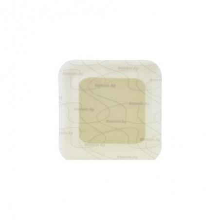 COLOPLAST - Biatain Ag Adesivo - medicazione in schiuma all'argento 12.5x12.5 cm