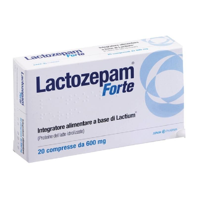 JUNIA PHARMA - Lactozepam Forte 20 Compresse - Integratore di fermenti lattici