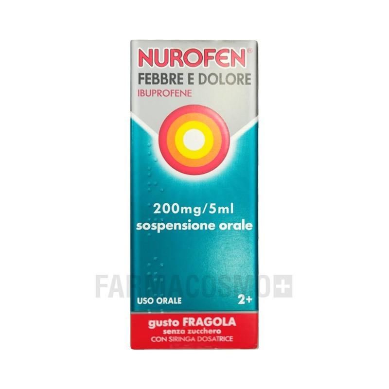 RECKITT BENCKISER - Nurofen Febbre e Dolore 200 mg/5ml fragola - analgesico antinfiammatorio