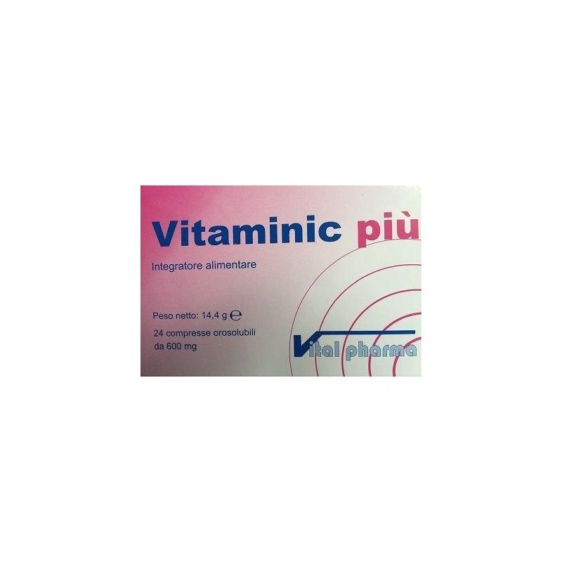 VITAL PHARMA - vitaminic più 24 compresse - integratore di vitamine e minerali