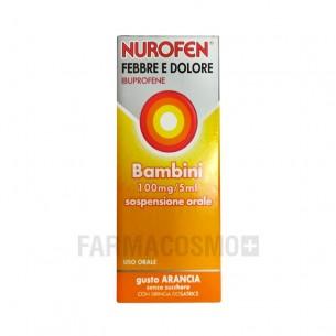 Nurofen Febbre e Dolore Bambini 100 mg/5 ml - analgesico antinfiammatorio arancia