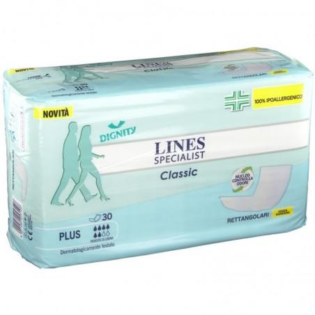 LINES - Specialist Classis Plus - 30 pannoloni rettangolari
