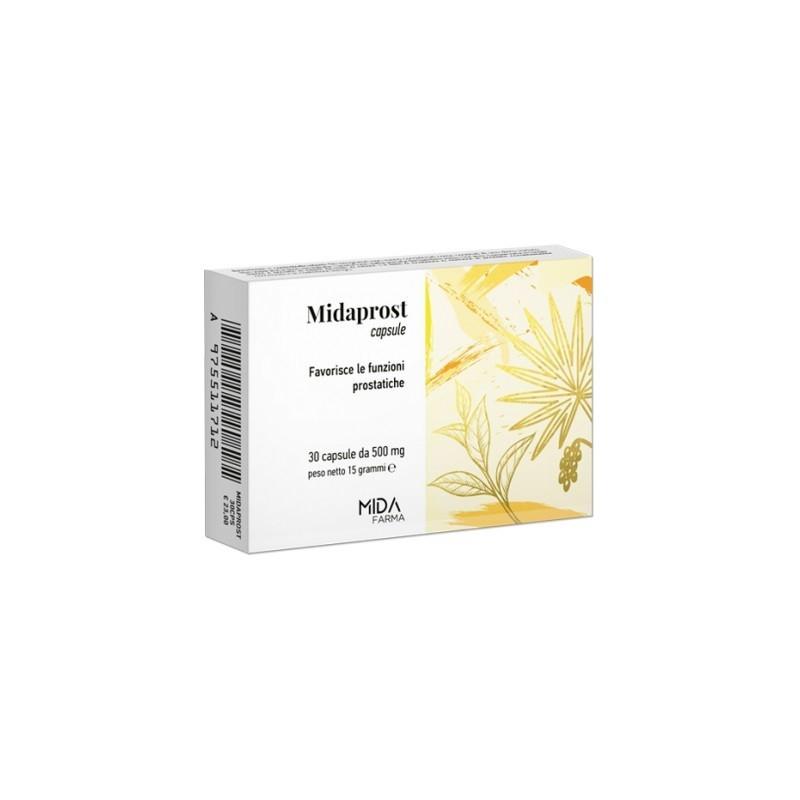 MIDA FARMA - Midaprost 30 Capsule - Integratore per le funzioni prostatiche
