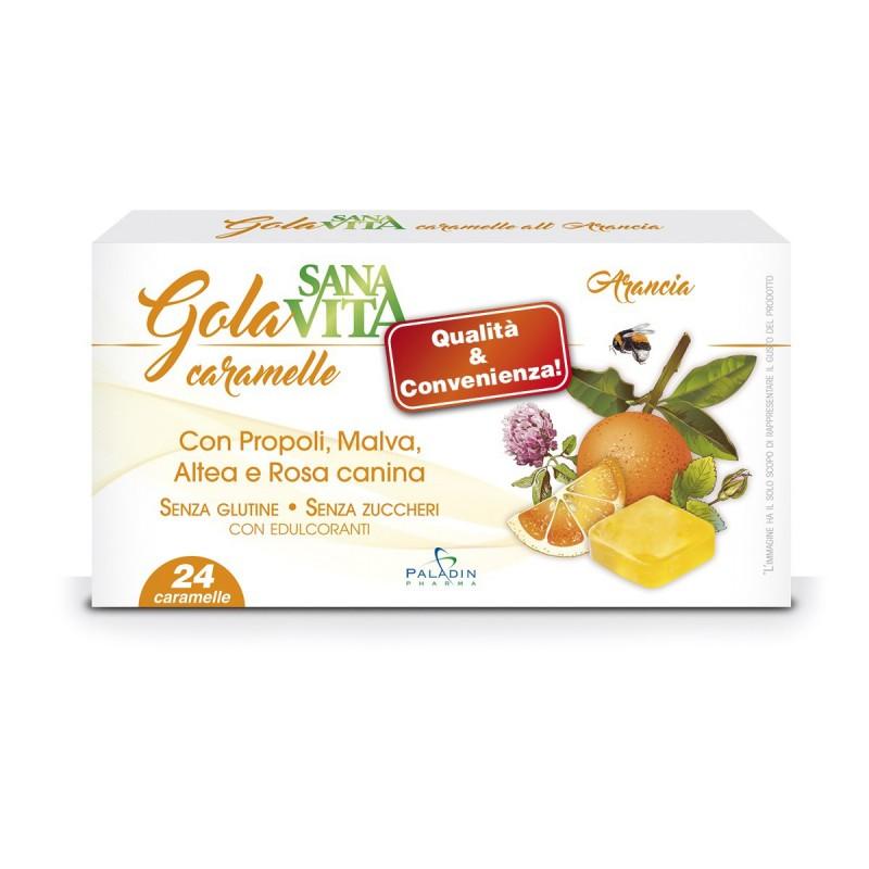 PALADIN PHARMA - Sanavita Gola - 24 caramelle all'arancia per il benessere della gola
