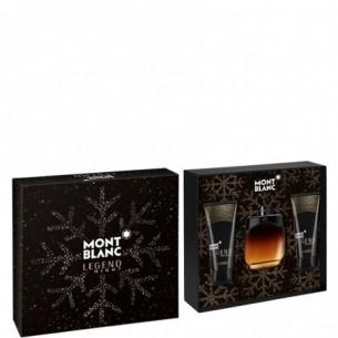 Montblanc Legend Night Kit - Edp 100 ml + Balsamo dopobarba 100 ml + Bagnoschiuma 100 ml