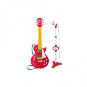 Chitarra Rock con Asta Microfono