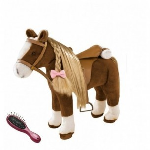 brown beauty - cavallo di peluche per bambole