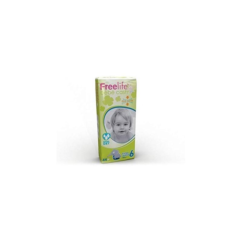 FREELIFE - Bebe Cash All in one extra dry taglia xl (18kg+) - confezione da 44 pannolini